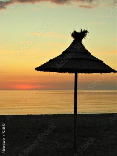 Foto op Canvas Zee zonsondergang sunset beach