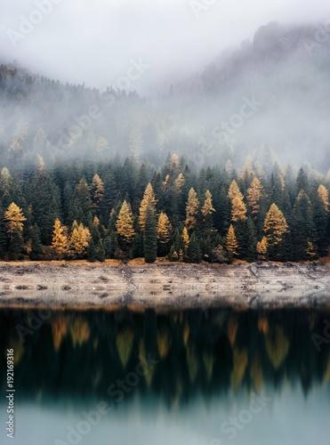 Foto op Canvas Donkergrijs landscape