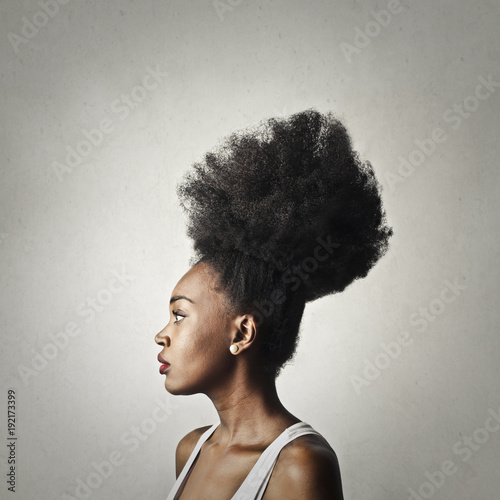 Girl with stylish hairstyle