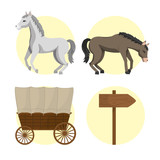 Horse And Carriages Wall Sticker