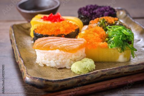 Foto op Plexiglas Sushi bar Sushi Japanese Recipe.