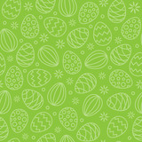 seamless easter eggs pattern background green - 192175566