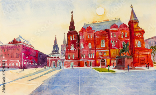 Stanu Dziejowy muzeum na placu czerwonym w Moskwa, Rosja.