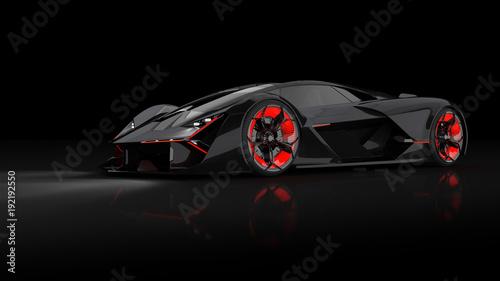 Poster futuristischer E-Supersportwagen