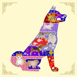 Vector illustration for Chinese New Year Greeting Card. year of the dog greeting card Vector. Vector illustration for year of the dog greeting card. - 192192999
