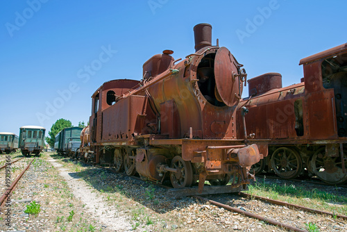 Old rusty locomotive