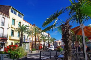 Place moderne de village en France