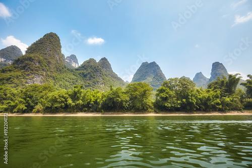 Keuken foto achterwand Guilin Li River (Li Jiang) near Xingping, China