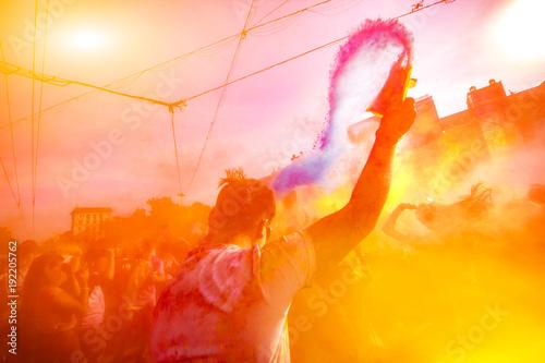 Holi celebration 9 September 2017 Moldova Chisinau Darwin Color
