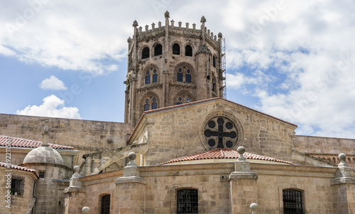 Church in the Orense region, Interior of gothic cathedral in Spain.