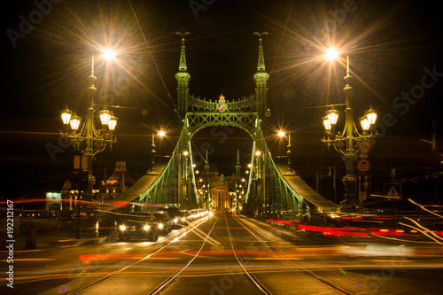Fotobehang Boedapest street light at night in Budapest
