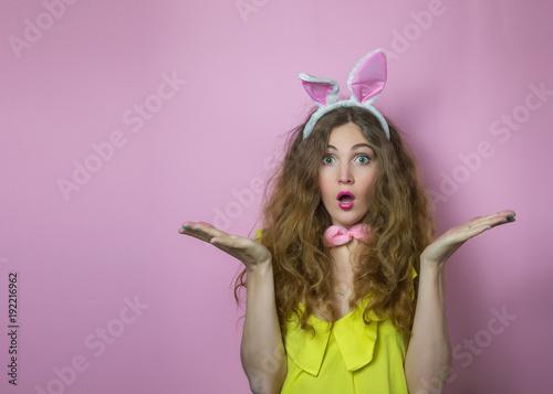 Plagát surprised bunny girl