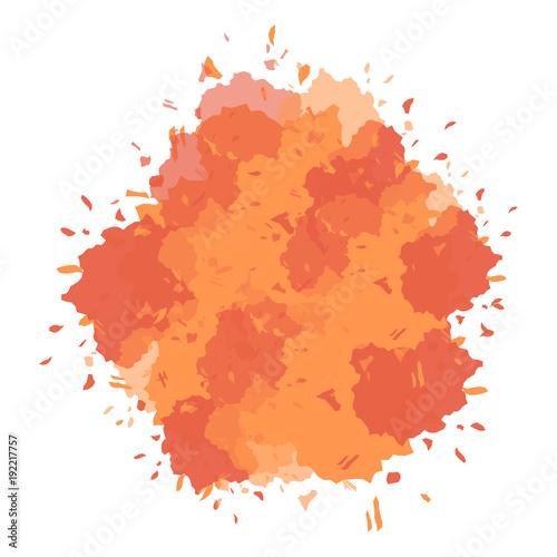 Orange ink splatter design