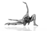 Extremely Fit Female Dancer - Black and White - 192219356