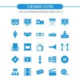 Cinema icons set vector - 192227362