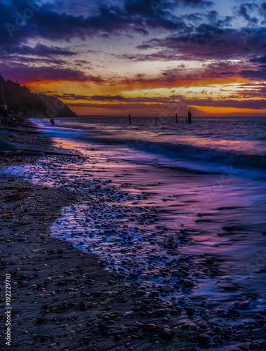 Foto op Aluminium Zee zonsondergang Strait Of Juan de Fuca Purple VT 9237