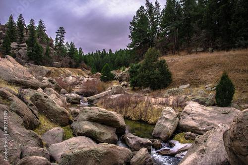 Fotobehang Bergrivier Castlewood Canyon, Colorado