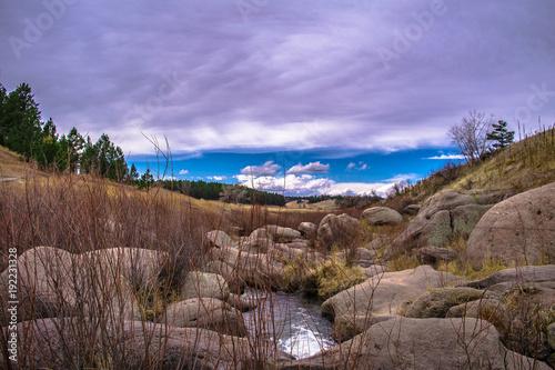 Fotobehang Cappuccino Castlewood Canyon, Colorado