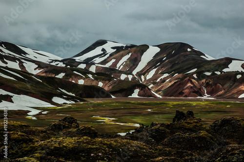 Fotobehang Donkergrijs Landmannalaugar