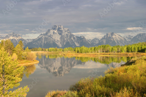 Foto op Canvas Honing Spring Storm at Oxbow Bend