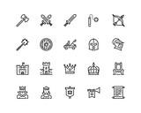 Medieval icon set - 192242713