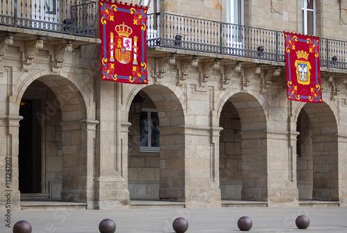 Arches of the Town Hall (Casa do Concello) of Lugo - Galicia, Spain