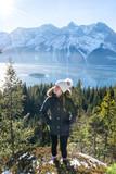 Hiking Winter girl