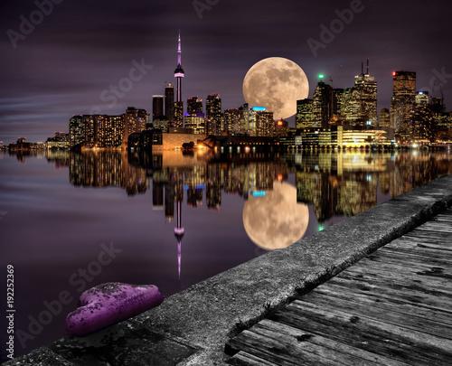 Deurstickers Toronto Full Moon Toronto
