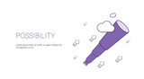 Possibility Web Banner With Copy Space Business Motivation Concept Vector Illustration - 192258950