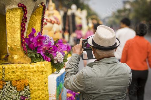 Fotobehang Thailand Chiang Mai Flower Festival