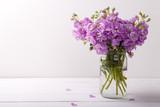 Lilac matthiola flowers