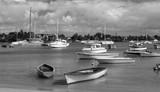 carte postale de Grand-Baie en noir et blanc, île Maurice  - 192267727