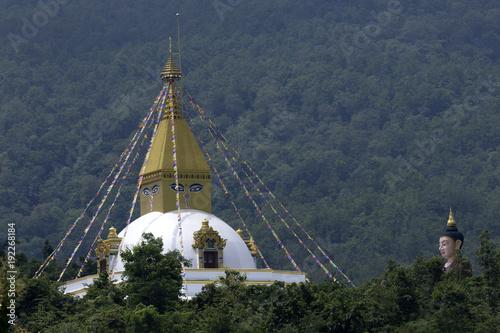 Staande foto Boeddha Temple at Ban Chom Thong in Chiang Mai, Thailand.