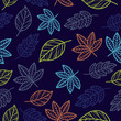 autumn leaf vintage seamless pattern - 192272587