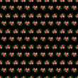 Bedding with a pattern of flowering. Seamless black background with red flowers. Veil vector illustration. - 192275168