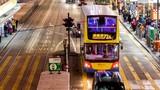 Hong Kong traffic in city at night - 192276140