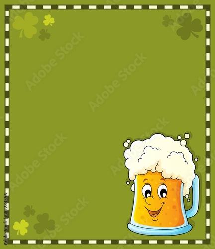 Fotobehang Voor kinderen Beer theme frame 1