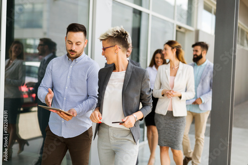 Picture of business people discussing in their company - 192284391
