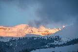 Flims, Grauberg, verschneite Almen, Almwiese