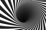 abstract background lines black hole 3d illustration - 192286178