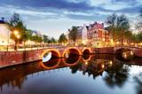 Amsterdam at night, Netherlands - 192288337