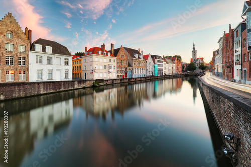 Fotobehang Brugge Bruges cityscape, Belgium