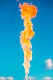 gas flame on a blue sky - 192291722