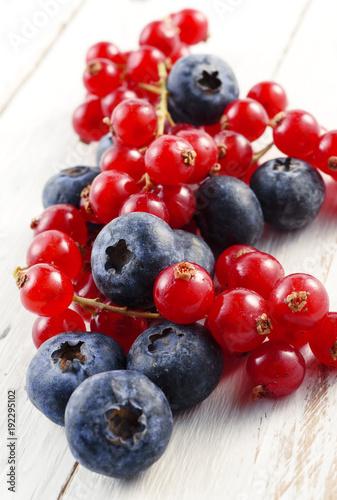 wild berries on white wood