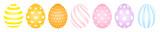 7 Easter Eggs Pattern Pastel Wall Sticker