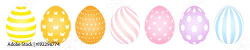 7 Easter Eggs Pattern Pastel - 192296774
