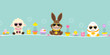 Easter Banner Sheep, Bunny & Egg Sunglasses Retro - 192296906