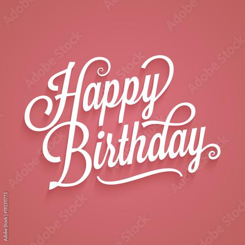 Happy Birthday Vintage Lettering Birthday Card Logo Retro