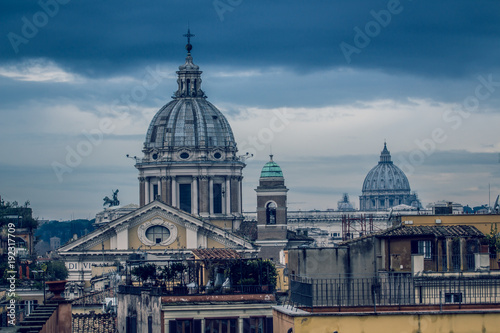 Rome varied antique  architecture ruins ItalyVatican City - 192317709
