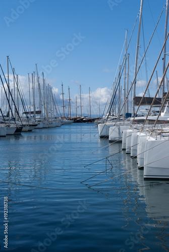 Deurstickers Athene Sailboats in Alimos Marina